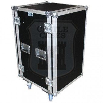 18u Foam Sleeved Rackmount Flightcase