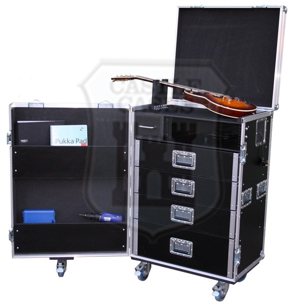guitar tech production rack flightcase. Black Bedroom Furniture Sets. Home Design Ideas