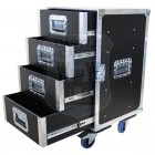 4 Drawer Tech Flightcase with drawer slides
