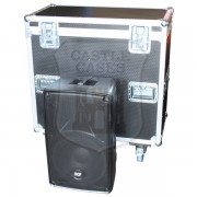 RCF HD32-A Twin Speaker Flightcase