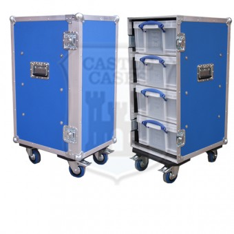 4 Drawer Lightweight Tech Flightcase