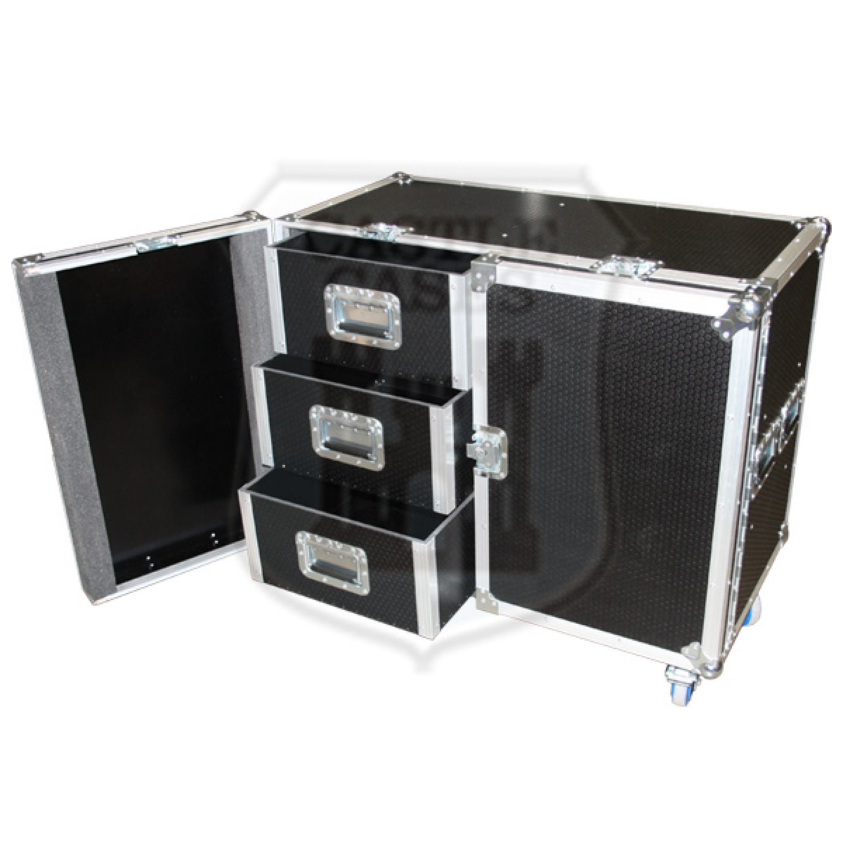 6 Drawer Tech with Double Hinged front Flightcase