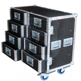 8 Drawer Tech Flightcase